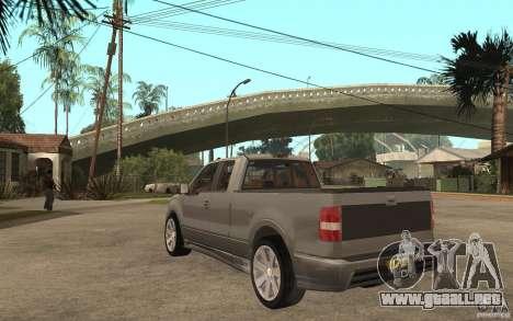 Saleen S331 Super Cab para GTA San Andreas vista posterior izquierda