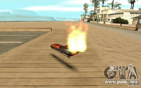 Hoverboard para GTA San Andreas vista posterior izquierda