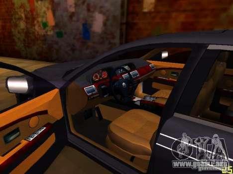 BMW Alpina B7 para visión interna GTA San Andreas
