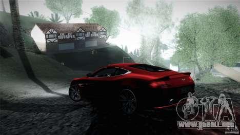 Aston Martin Vanquish V12 para GTA San Andreas vista posterior izquierda