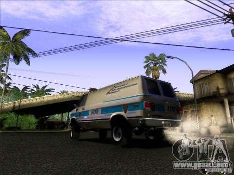 Chevrolet VAN G20 NYPD SWAT para GTA San Andreas vista posterior izquierda