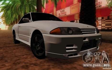 Nissan Skyline GT-R R32 1993 Tunable para GTA San Andreas vista posterior izquierda