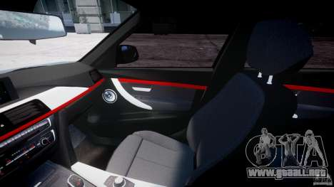 BMW 335i E30 2012 Sport Line v1.0 para GTA 4 vista hacia atrás