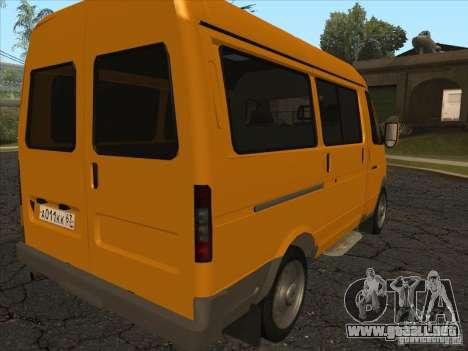 GAZ 22171 Sable para GTA San Andreas vista posterior izquierda