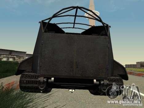 GW Typ E para GTA San Andreas vista posterior izquierda