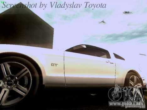 Ford Mustang GT 2011 para GTA San Andreas interior
