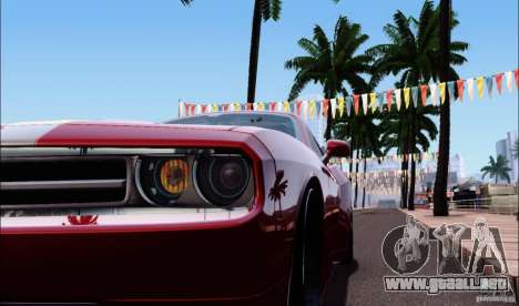 Dodge Challenger Rampage Customs para GTA San Andreas vista hacia atrás
