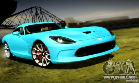 Dodge Viper SRT  GTS para GTA San Andreas left