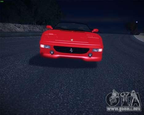 Ferrari F355 Spyder para la visión correcta GTA San Andreas