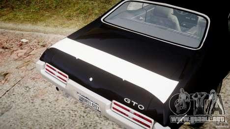 Pontiac GTO Judge para GTA 4 vista desde abajo