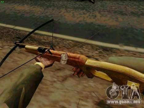 Una trabajo ballesta con flechas para GTA San Andreas tercera pantalla