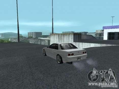 Nissan Skyline R32 Zenki para GTA San Andreas vista posterior izquierda