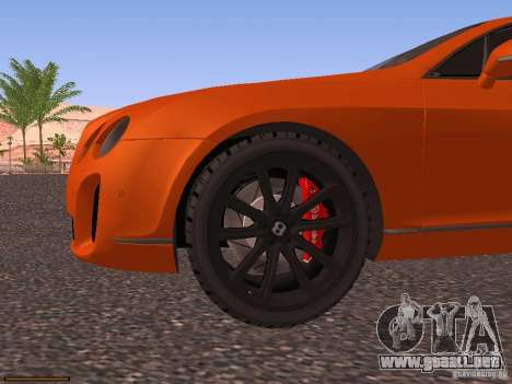 Bentley Continetal SS Dubai Gold Edition para la vista superior GTA San Andreas