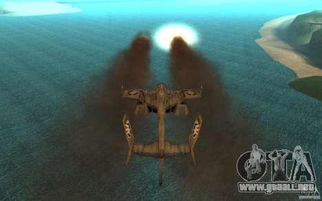 Aire Orca Command and Conquer 3 para GTA San Andreas vista hacia atrás