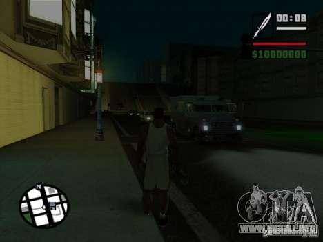 Sueño para GTA San Andreas sucesivamente de pantalla