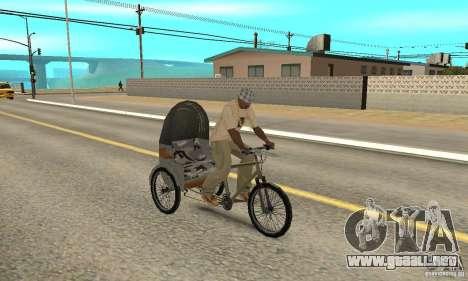 Manual Rickshaw v2 Skin1 para la visión correcta GTA San Andreas