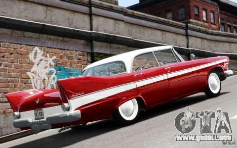 Plymouth Belvedere Sport Sedan 1957 para GTA 4 visión correcta