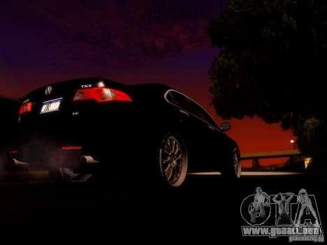 Acura TSX para vista lateral GTA San Andreas
