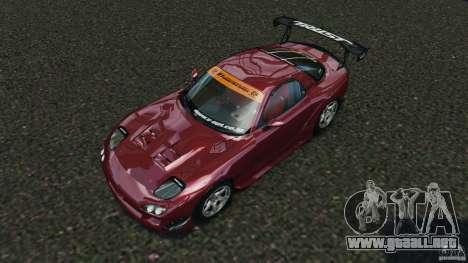 Mazda RX-7 RE-Amemiya v2 para GTA 4 vista superior