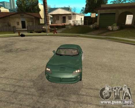 Dodge Viper Srt 10 para GTA San Andreas vista hacia atrás