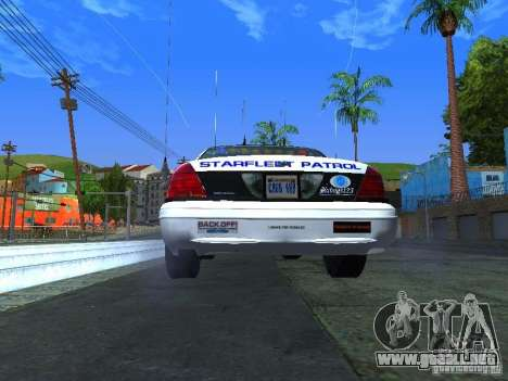 Ford Crown Victoria Police Interceptor 2008 para la visión correcta GTA San Andreas