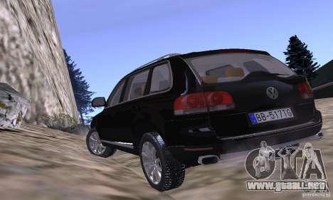 Volkswagen Touareg para visión interna GTA San Andreas