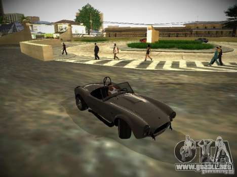 Shelby Cobra para GTA San Andreas vista hacia atrás