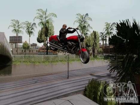 Vice City Freeway para GTA San Andreas vista hacia atrás
