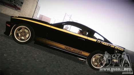 Shelby GT500 Terlingua para GTA San Andreas vista posterior izquierda