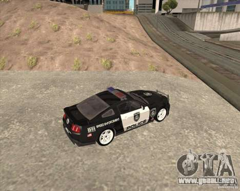 Ford Shelby GT500 2010 Police para GTA San Andreas left