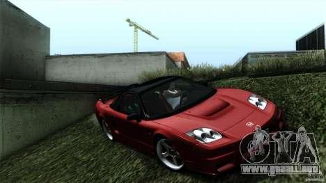 Honda NSX-R 2005 para GTA San Andreas vista posterior izquierda