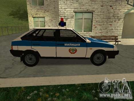 VAZ 2109 policía para GTA San Andreas left