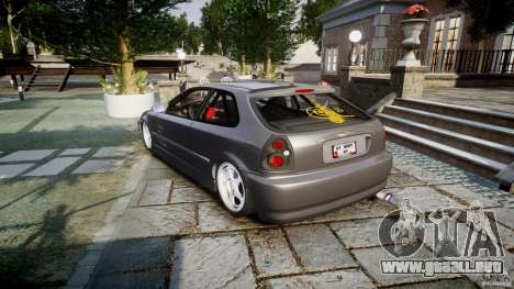 Honda Civic EK9 Tuning para GTA 4 vista lateral