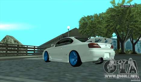 Nissan Silvia S15 Stance para GTA San Andreas vista posterior izquierda