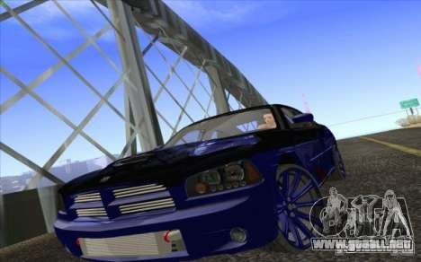 Dodge Charger SRT 8 para vista lateral GTA San Andreas