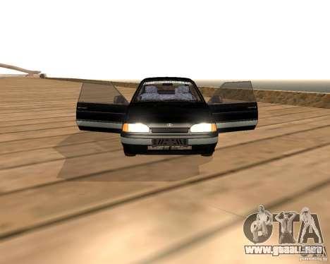 2113 VAZ para GTA San Andreas vista hacia atrás