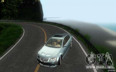 Pontiac G8 GXP 2009 para la vista superior GTA San Andreas