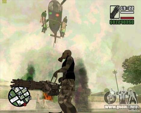 Ametralladora de Call of Duty Black Ops para GTA San Andreas tercera pantalla