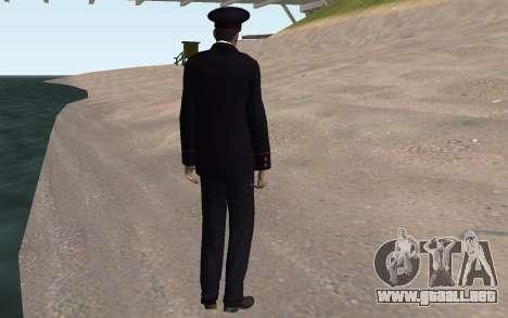 El funcionario del Ministerio del INTERIOR para GTA San Andreas quinta pantalla