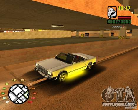 Extreme Car Mod SA:MP version para GTA San Andreas sucesivamente de pantalla