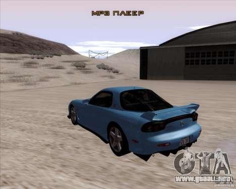 Mazda RX7 2002 FD3S SPIRIT-R (Type RS) para GTA San Andreas vista posterior izquierda