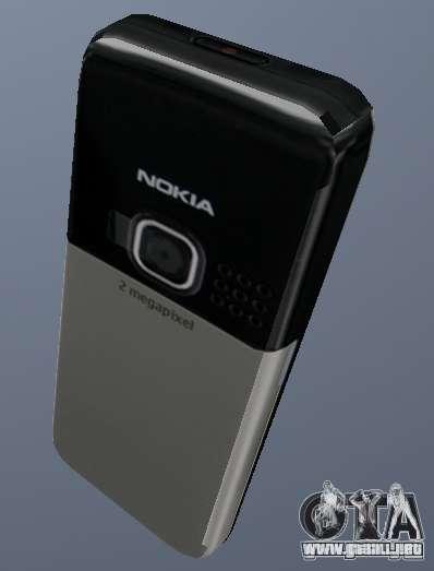 Nokia 6300 Mobile para GTA San Andreas segunda pantalla