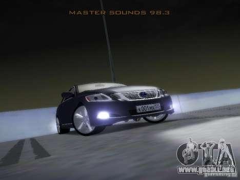 Lexus GS450H para vista lateral GTA San Andreas