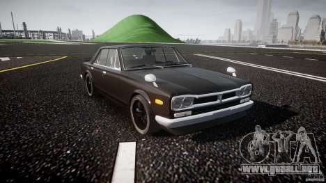 Nissan Skyline GC10 2000 GT v1.1 para GTA 4 vista interior