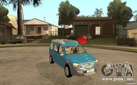 Dacia Logan Steppe Concept para GTA San Andreas vista hacia atrás