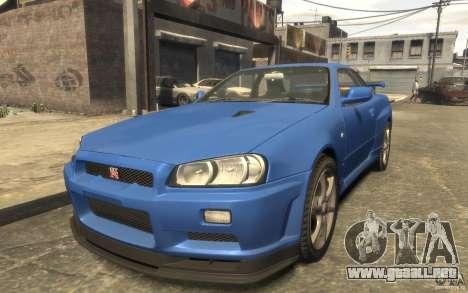 Nissan Skyline GT-R34 FNF para GTA 4 visión correcta