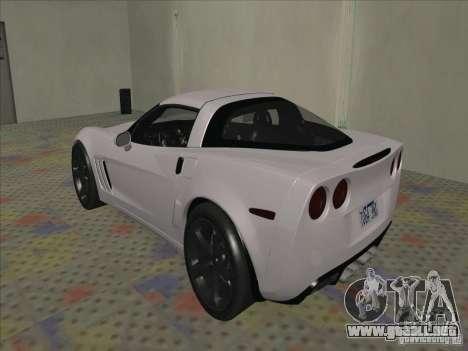 Chevrolet Corvette Grand Sport 2010 para la visión correcta GTA San Andreas