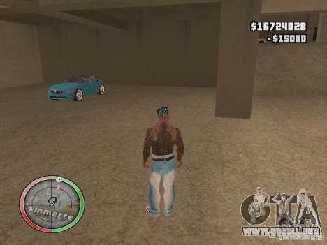 Car shop para GTA San Andreas sucesivamente de pantalla