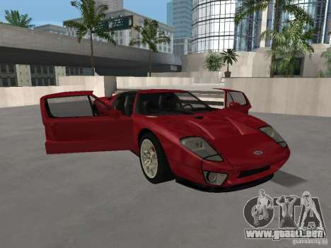 Ford GT para la vista superior GTA San Andreas