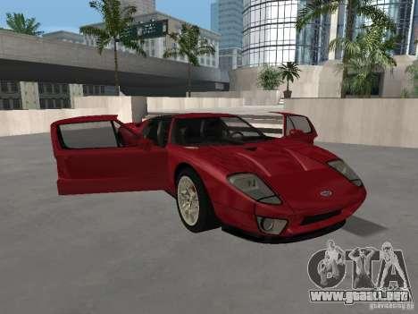 Ford GT para la vista superior GTA San Andreas